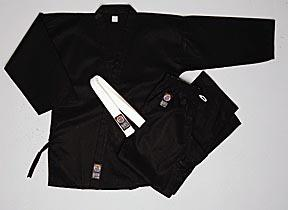 100% Cotton 6oz. Karate Uniform -- Black